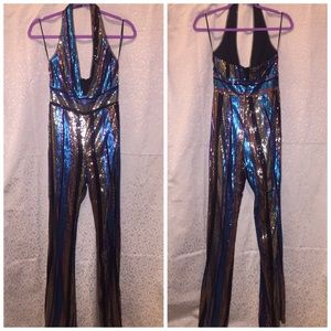 WOW couture Pants - WOW Couture Sequined Jumpsuit